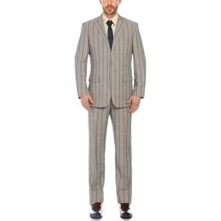 Verno Men's Color Mixture Plaid Classic Fit Notch Lapel Suit (More options available)