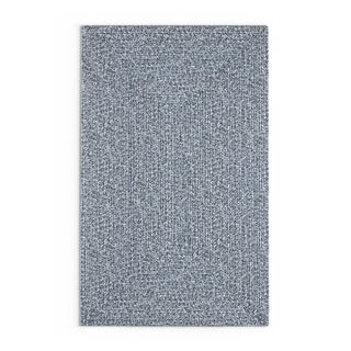 Strick & Bolton Rowan Handmade Braided Area Rug (5 x 8 - Light Blue)