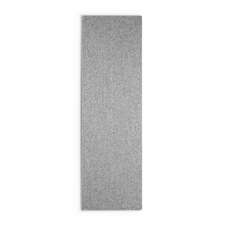 Taylor & Olive DeGray Handmade Grey Braided Runner Rug - 2'6 x 12'