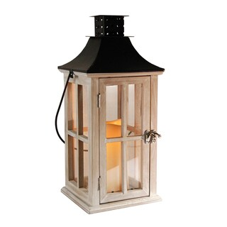 The Gray Barn Stable View Wooden Lantern with LED Candle