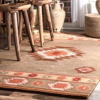 Pine Canopy Tongass Hand-tufted Southwestern Wool Grey Area Rug (2' x 3')
