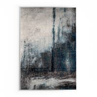 nuLOOM Contemporary Abstract Painting Grey Rug (9' x 12') - 9' x 12'