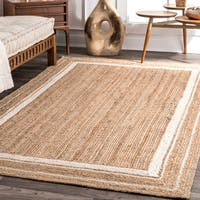 Strick & Bolton Cattelan Braided Jute Area Rug
