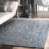 Taylor & Olive DeGray Handmade Blue Braided Area Rug - 7'6 x 9'6