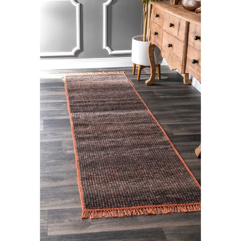 Carbon Loft Frank Modern Flatweave Wool Tassel Area Rug