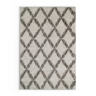 Strick & Bolton Hartley Lattice Shag Rug (Ivory - 4 x 6)