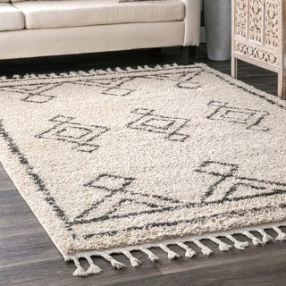 Link to The Curated Nomad Prescott Moroccan Diamond Tassel Shag Rug Similar Items in Shag Rugs