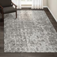 "Porch & Den Williamsburg Seigel Granite Mist Shades Grey/ Off White Area Rug - 6'7"" x 9'"