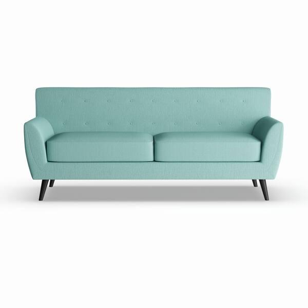 Enjoyable Shop Carolina Sofa Seafoam Blue Stallion Free Shipping Andrewgaddart Wooden Chair Designs For Living Room Andrewgaddartcom