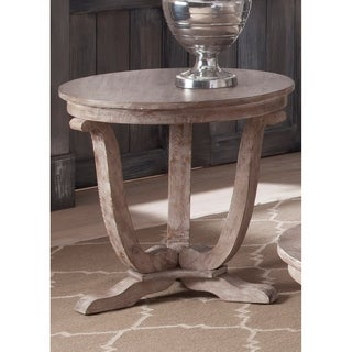 The Gray Barn Harbour Head Stone White Wash End Table