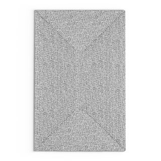 Strick & Bolton Rowan Handmade Grey Braided Area Rug - 4' x 6'