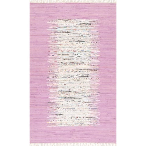 Carson Carrington Toftlund Handmade Abstract Border Flatweave Cotton Area Rug