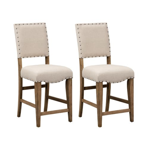 The Gray Barn Ten Hens Upholstered Nailhead Dining Chair (Set of 2)