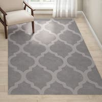 Oliver & James Starling Handmade Grey Wool Trellis Area Rug - 5' x 8'