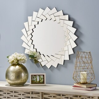 Antares Glam Sunburst Wall Mirror by Christopher Knight Home - Silver