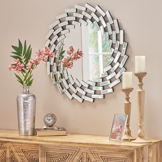 Link to Lileas Glam Wall Mirror by Christopher Knight Home - Silver Similar Items in Mirrors