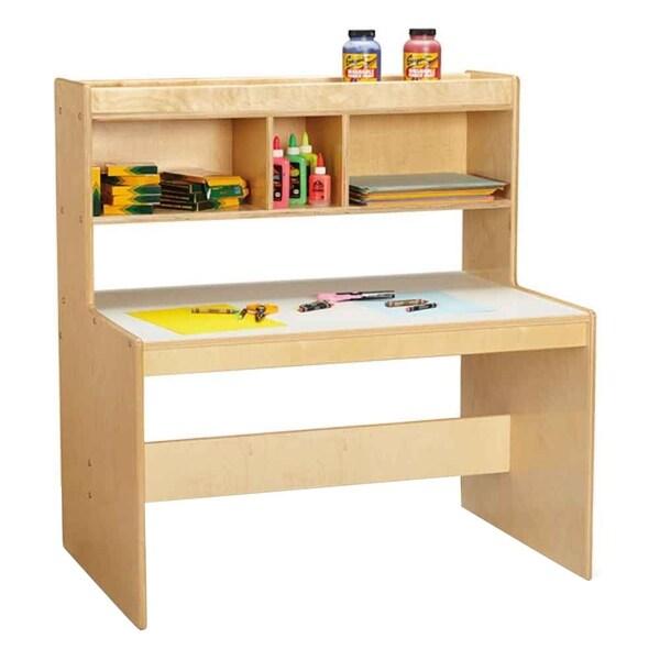 Jonti Craft Dual Writing Desk With Upper Shelf