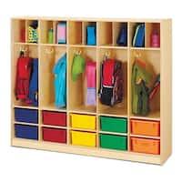 Jonti-Craft Large Kids Locker Organizer with 10 Colored Tubs