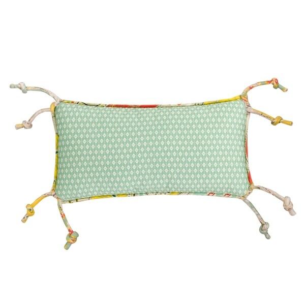 Echo Design Jaipur Seafoam Cotton Diamond Printed Oblong Pillow