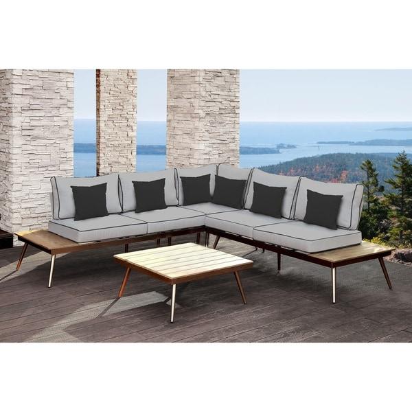 Shop SOLIS Artem 2-piece Outdoor Sectional Patio Set ... on Safavieh Outdoor Living Granton 5 Pc Living Set id=46972