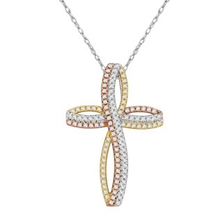Divina Sterling Silver Cubic Zirconia Cross Pendant