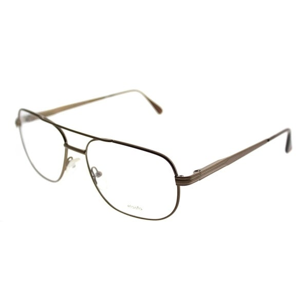 Elasta Aviator Elasta 7126 9HM Unisex Brown Frame Eyeglasses