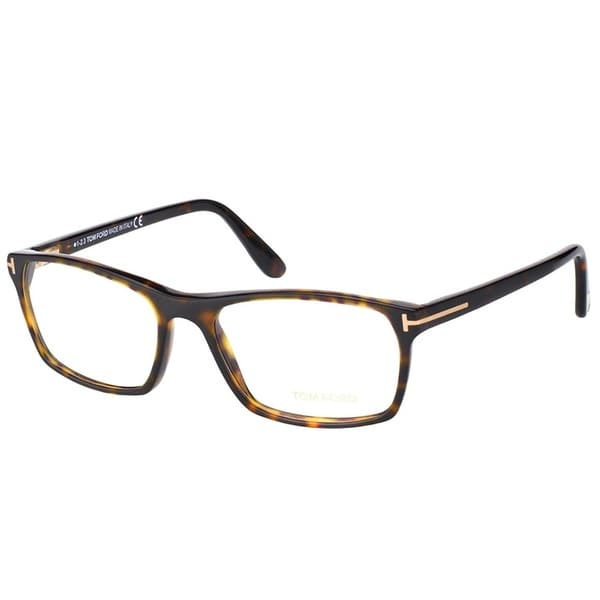 34a1d56e9e49 Tom Ford Rectangle FT 5295 052 Unisex Dark Havana Frame Eyeglasses