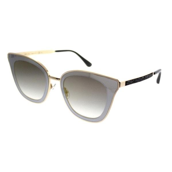 463e63832457 Jimmy Choo Cat-Eye JC Lory 2M2 Women Black Gold Frame Gold Mirror Gradient  Lens