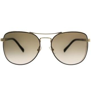 Jimmy Choo Aviator JC Sheena 2M2 JL Women Black Gold Frame Gold Mirror Lens Sunglasses