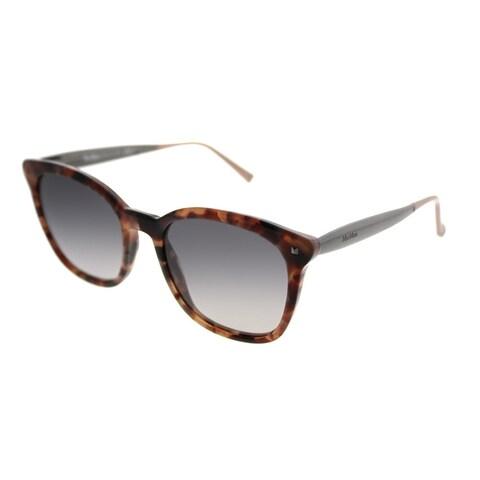 MaxMara Square MM Needle Iii/S USL EU Women Beige Havana Ruthenium Frame Grey Gradient Lens Sunglasses