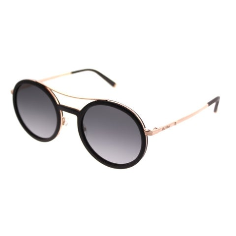 MaxMara Round MM Oblo'/S V24 EU Women Burgundy Gold Frame Grey Gradient Lens Sunglasses