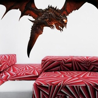 """Fantasy Dragon Full Color Wall Decal Sticker AN-191 FRST Size 30""""x60"""""""