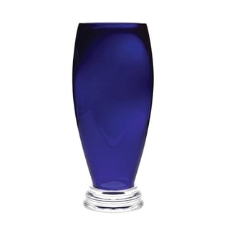 Link to Majestic Gifts Handmade European Glass Footed Round Vase - Cobalt Similar Items in Decorative Accessories