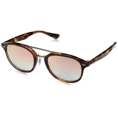 Ray-Ban RB2183 Unisex Tortoise Frame Pink Gradient Mirror 53mm Lens Sunglasses