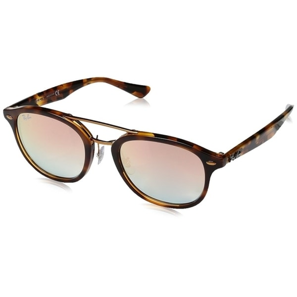 c6d0bba1a8 Ray-Ban RB2183 Unisex Tortoise Frame Pink Gradient Mirror 53mm Lens  Sunglasses