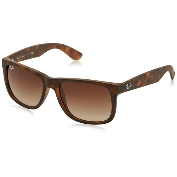 8a3b8c1eaa Shop Ray-Ban RB4165 Justin Classic Tortoise Frame Brown Gradient 53mm Lens  Sunglasses - Free Shipping Today - Overstock - 20707667