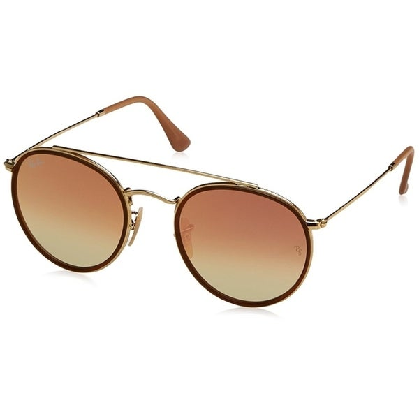 99443f35c5bde Ray-Ban RB3647N Round Double Bridge Gold Frame Copper Gradient Flash 51mm  Lens Sunglasses