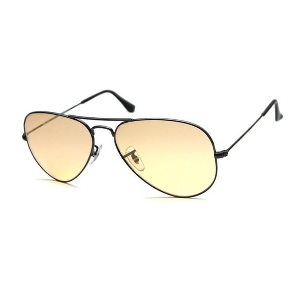 006b10dba09 Ray-Ban RB3025 Aviator Black Frame Yellow Gradient 58mm Lens Sunglasses