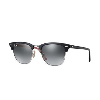 Ray-Ban RB3016 Clubmaster Black Frame Grey Gradient 49mm Lens Sunglasses