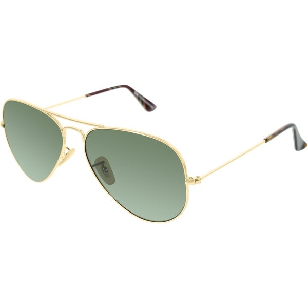 a9f9b9ce2e8 Shop Ray-Ban RB3025 Aviator Gold Frame Green Classic 58mm Lens Sunglasses -  Free Shipping Today - Overstock.com - 20707699