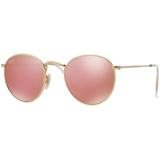 Ray-Ban RB3447 Round Gold Frame Copper Flash 53mm Lens Sunglasses