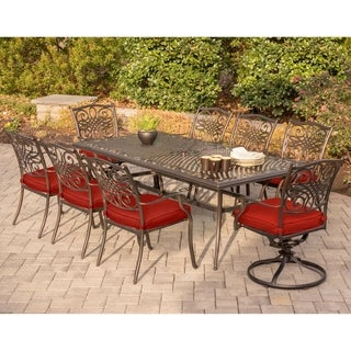 Hanover Traditions 9-Piece Dining Set in Red