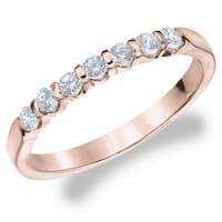 Amore 10K Rose Gold 0.50 CT TDW Seven Stone Diamond Ring