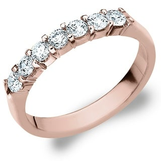 Amore 10K Rose Gold 0.50 CT TDW Seven Stone Shared Prong Diamond Ring