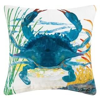 Blue Crab Indoor / Outdoor 18 Inch Throw Pillow