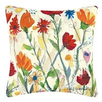 Wildflowers Indoor / Outdoor 18 Inch Throw Pillow