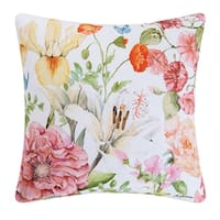 Sunny Floral Indoor / Outdoor 18 Inch Throw Pillow