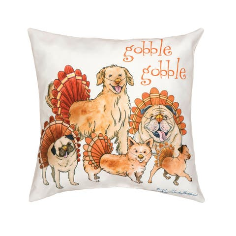 The Gobblers Printed 18 Inch Accent Decorative Accent Throw Pillow