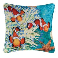 Coral Reef Indoor / Outdoor 18 Inch Throw Pillow
