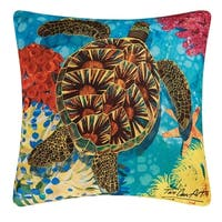 Turtle Indoor / Outdoor 18 Inch Throw Pillow